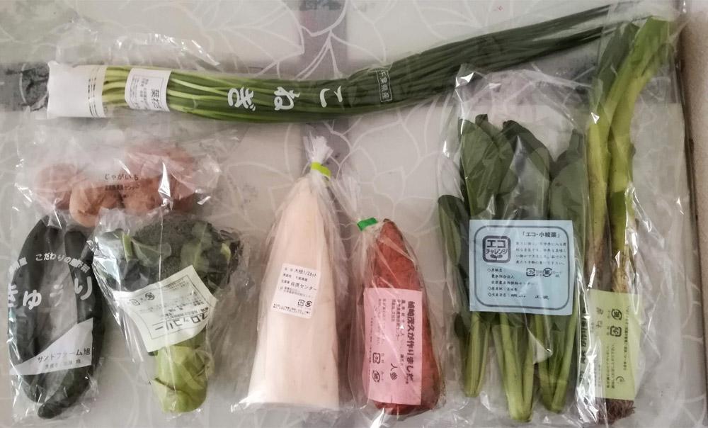 パルシステムの野菜セット8品